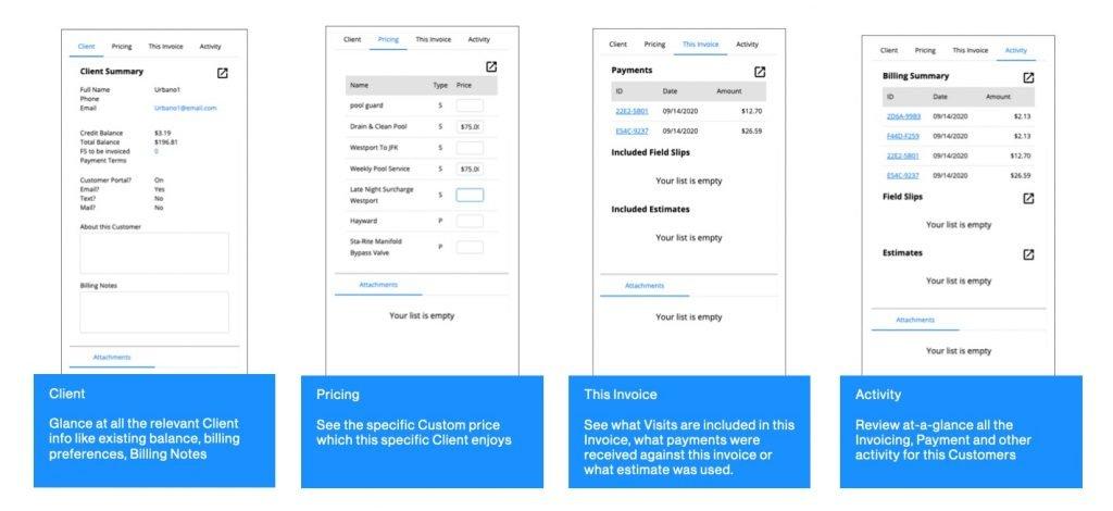 Ignition Software Invoice Builder Information Sidebar